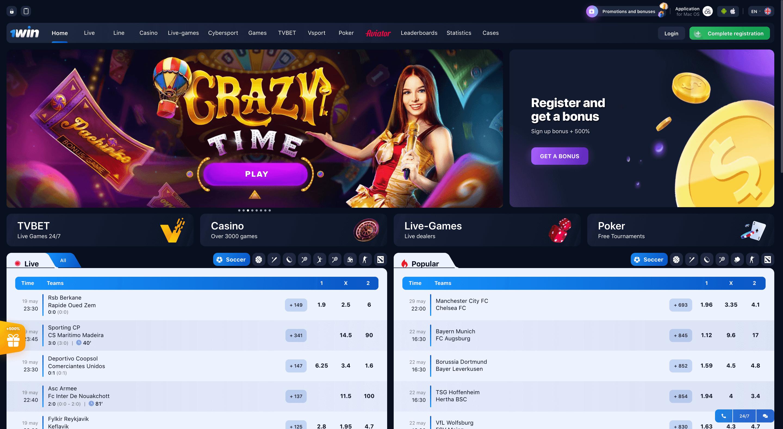 1win casino site
