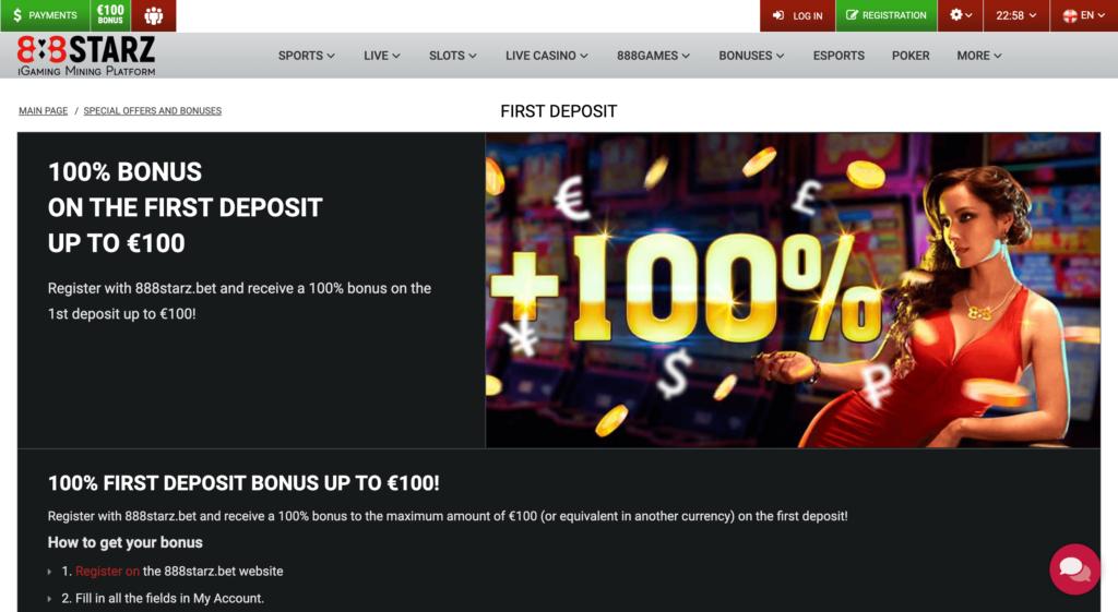 888starz welcome bonus