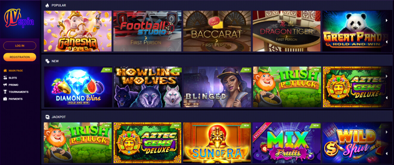 JV Spin Casino Review